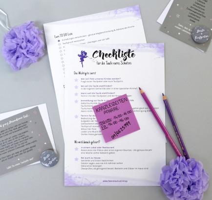 Taufe-Checkliste des Ablaufs als gratis Download
