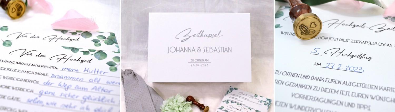 Zeitkapsel Box mit Karten für die Hochzeit zum kaufen