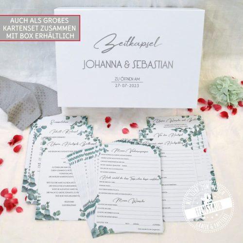 Zeitkapsel Box Hochzeit mit großen Karten Set
