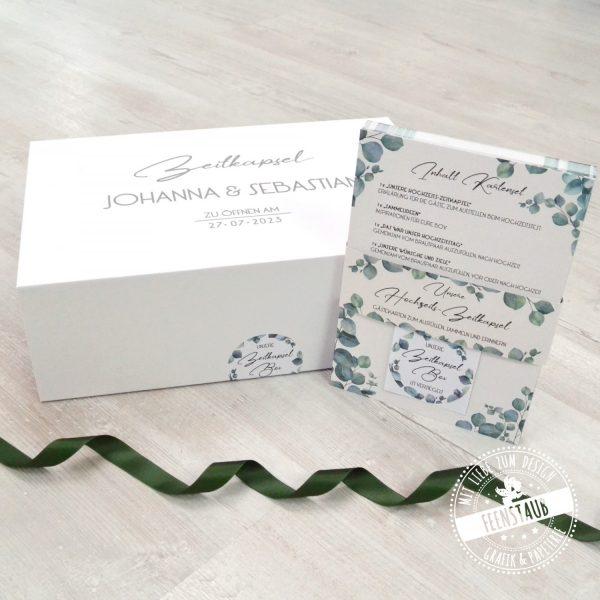 Zeitkapsel Box Hochzeit mit Kartenset