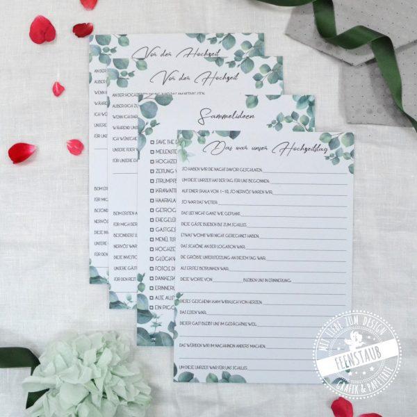 Karten Ideen für die Zeitkapsel zur Hochzeit