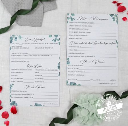 Geschenkidee zur Hochzeit Zeitkapselbox mit Karten
