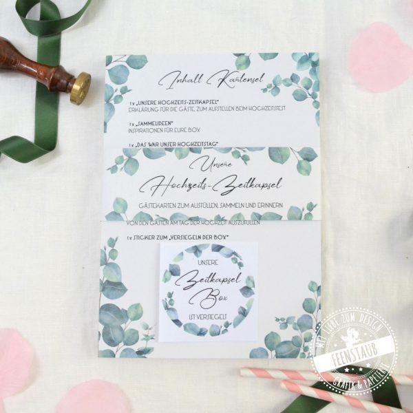 Hochzeitszeitkapsel Karten zum Ausfüllen für Hochzeitsgäste und Brautpaar