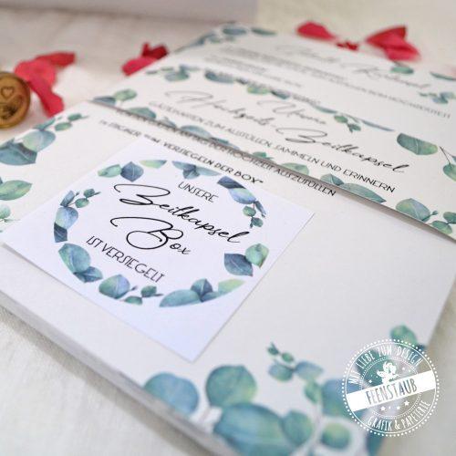 Gästebuchkarten für Hochzeit für eine Zeitkapsel