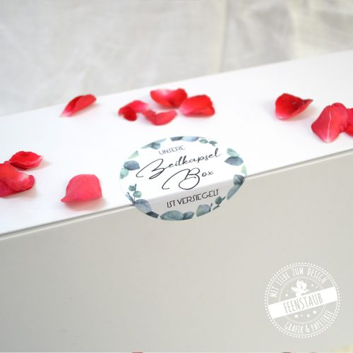 schöne Zeitkapselbox mit individueller Beschriftung