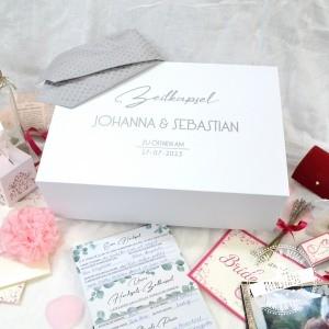 Ideen für Hochzeitszeitkapsel Box zum Befüllen mit Kartenset von Feenstaub