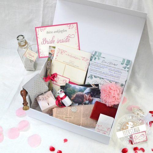 Zeitkapsel Box zur Hochzeit Ideen zum Befüllen von Feenstaub
