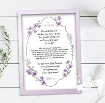 Trauzeugin Geschenk als Print mit persönlichem Spruch