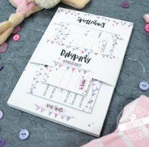 Babyshower Spiele set mit Erinnerungskarten