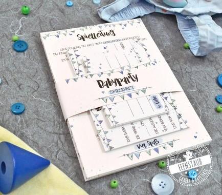 babyshower spiel und erinnerungsset