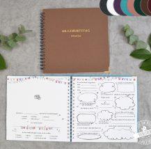 Gästebuch mit lustigen Fragen zum Ausfüllen für Geburtstag