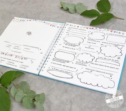 Geburtstag Gästebuch zum Ausfüllen