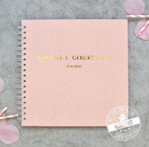 Personalisierbares Gästebuch mit Fragen zum Ausfüllen für die TAufe