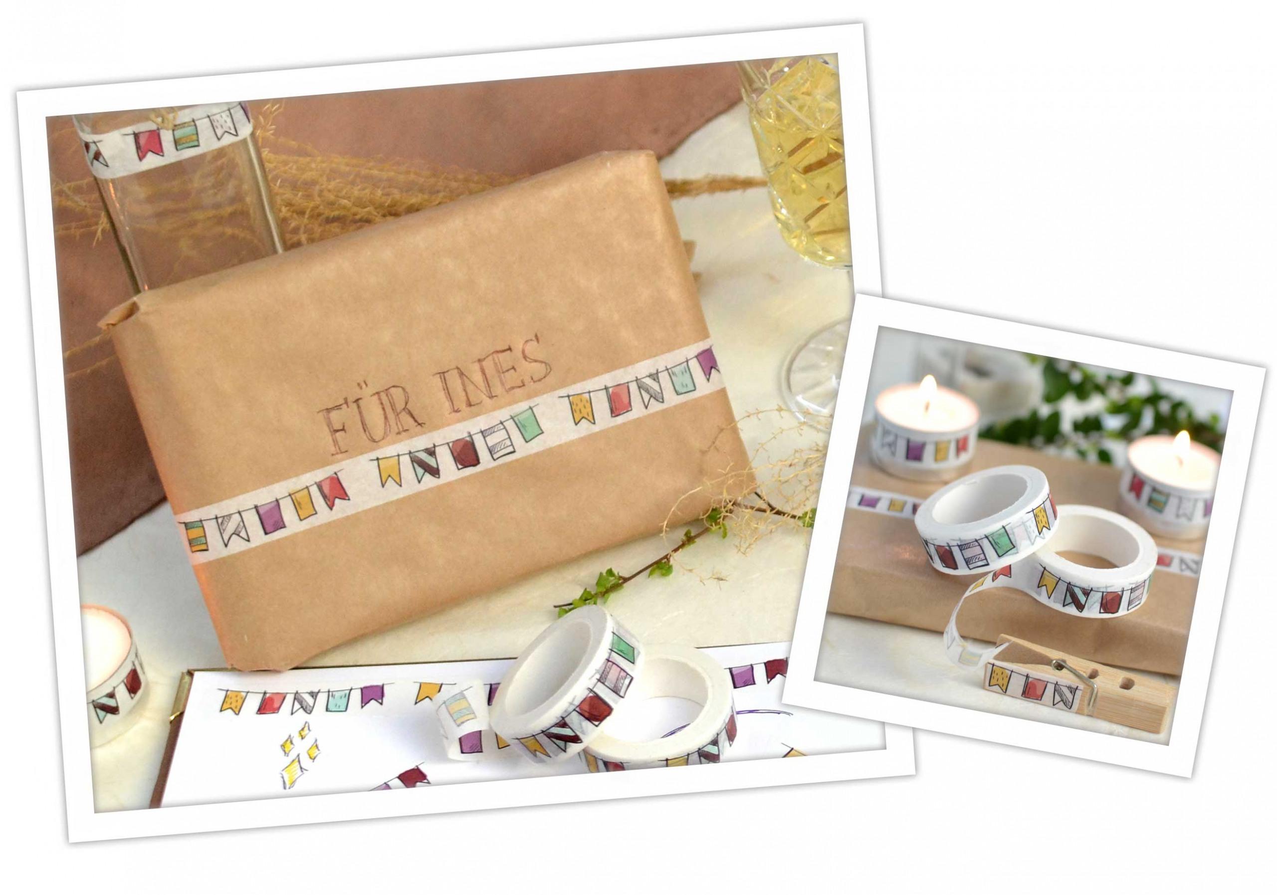 Washi Tape DIY Ideen: Geschenke einfach verpacken