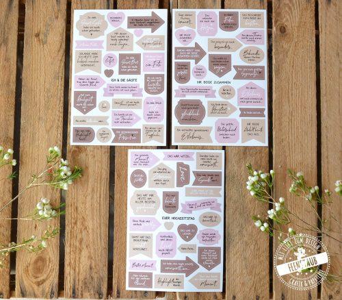 184 Sticker für dein Hochzeitsgästebuch
