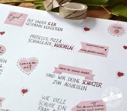 Sticker für blanko Hochzeits-Gästebuch