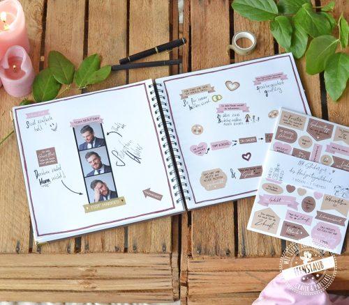 Gästebuch Hochzeit Stickerbögen im 7er Set