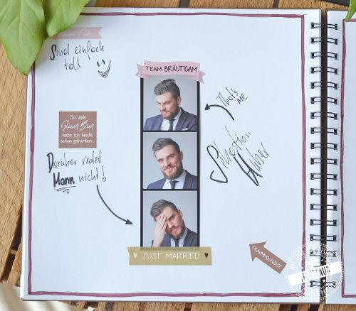 Gestaltung Hochzeitsgästebuch mit Stickern
