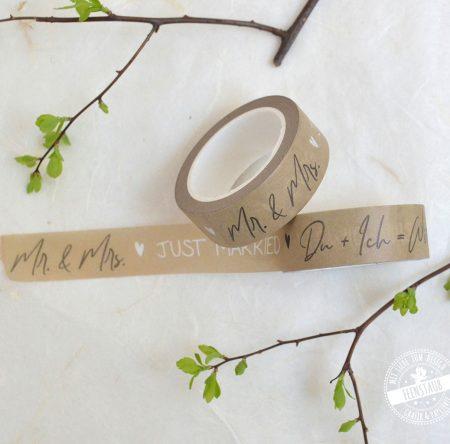 washi tape für die Hochzeit
