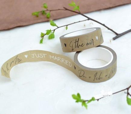 Washi Tape fürs Hochzeitsgästebuch