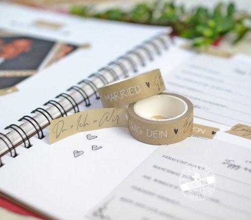 Washi Tape mit Sprüchen fürs Gästebuch