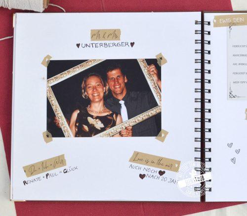 Hochzeit Washi Tape zum Gestalten des Gästebuchs