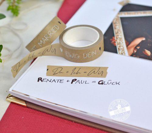 Washi Tape mit Sprüchen für das Hochzeitsgästebuch