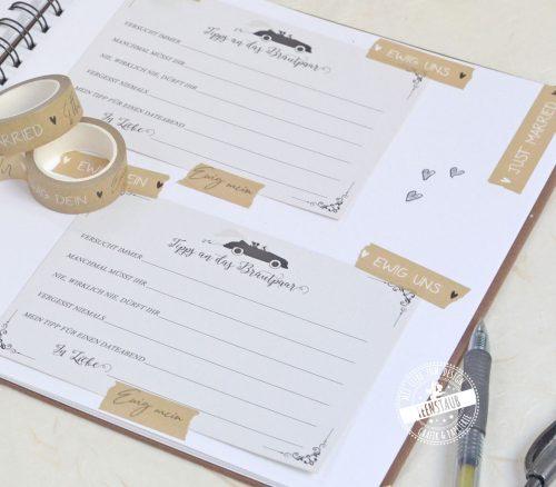 Hochzeit Washi Tape für das einkleben von Fotos