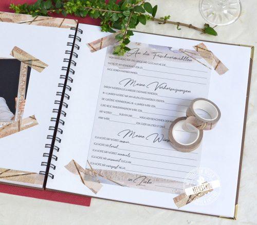 Washi Tape für die Gestaltung des Hochzeitsgästebuchs