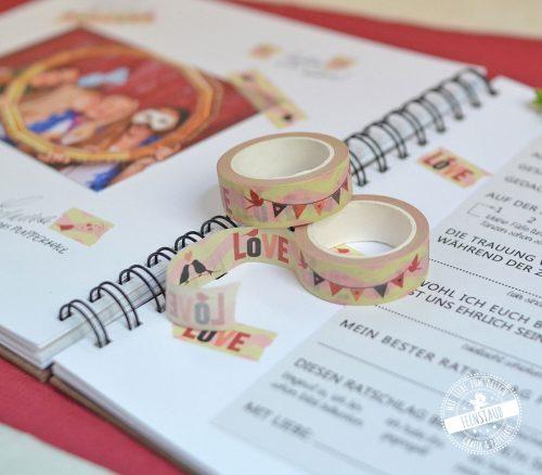 kreatives Gestalten des Hochzeitsgästebuchs