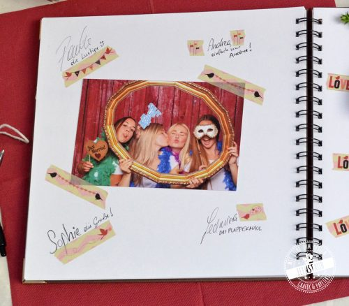 Washi Tape zum Einkleben von Fotos ins Gästebuch