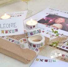 kreative Gestaltungsidee mit Washi Tape für den Geburtstag, Taufe
