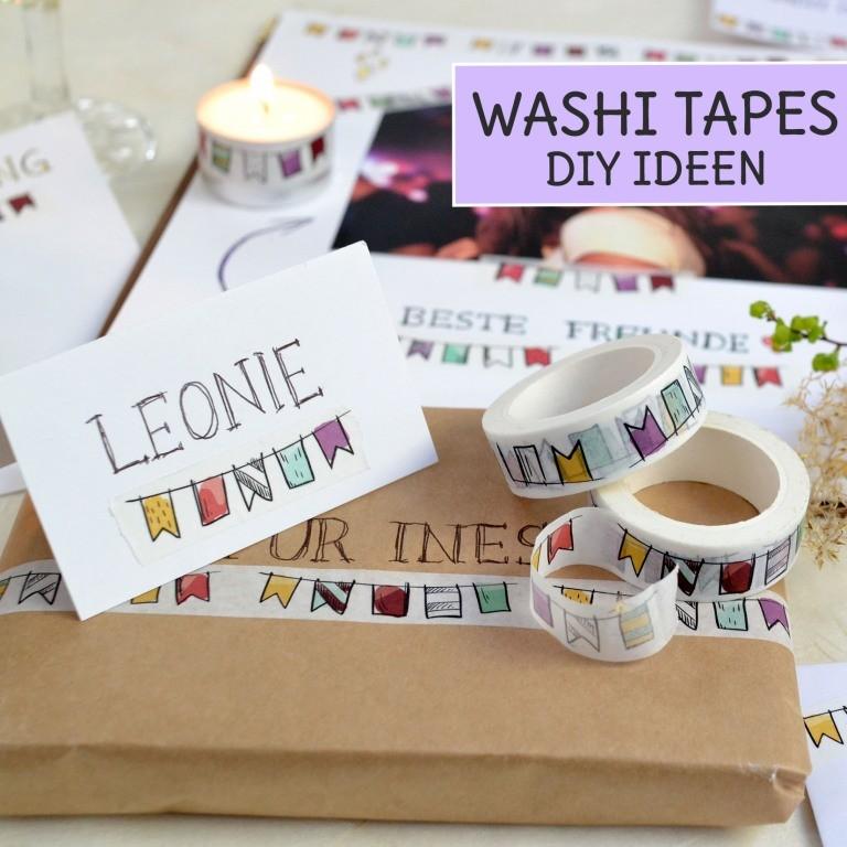 Washi Tape DIY Ideen zum selber machen