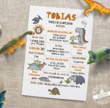 Geschenk zum Schulanfang mit Dinos