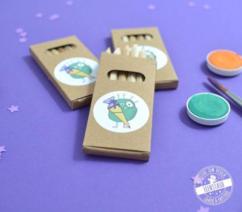 Buntstifte als Gastegeschenke für Kinder
