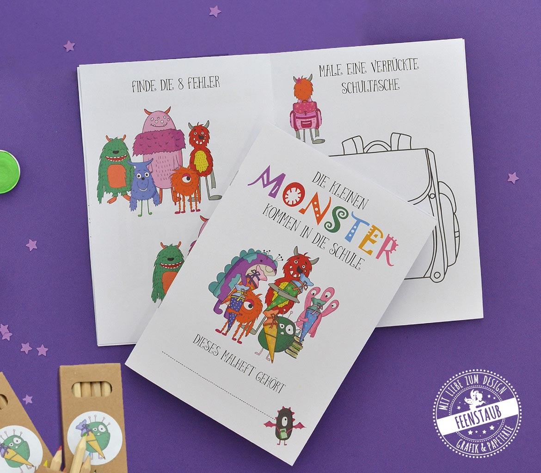 Mal- und Rätselspaß auf 16 Seiten für Kinder zum Schulanfang