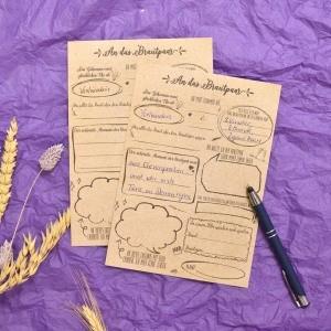 Alternative zum Hochzeits Gäastebuch, A5 Gästebuchkarten vintage