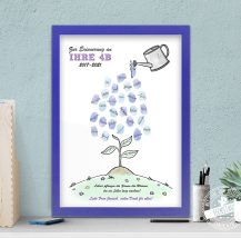 Kreatives Abschiedsgeschenk für KITA und Vorschule, Fingerabdruckbild personalisierbar