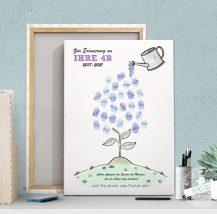 Fingerabdruckbild zum Schulabschluss und zur Kindergartenverabschiedung