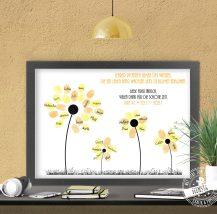 Abschiedsgeschenk Blumen aus Fingerabdrücken der Kinder für Lehrerin