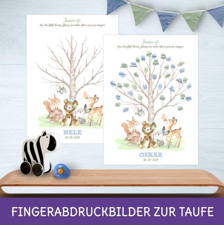 Taufe Gästebuch mit Fingerabdruck als Bild - Alternative Idee