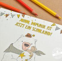 Personalisierbares Album für das SChulkind Geschenk zur Einschulung