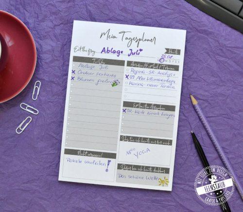 Notizblock A5 Tagesplaner zum Abreißen mit To Do Liste, Aufgaben, Termine, Highlights