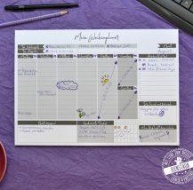 Wochenplaner in A4, Platz für alle Termine und Aufgaben, mit Habbit Tracker