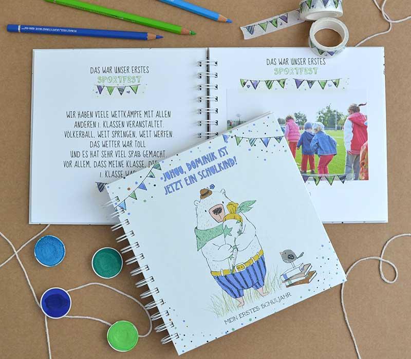 Personalisierbares Fotoalbum für die Schulzeit