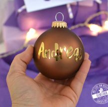 Personalisierte Christbaumkugel mit Namen als kleines Geschenk für deinen Mann Frau