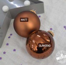 Christabumkugeln mit Namen personalisiert als Weihnachtsgeschenk, bronze
