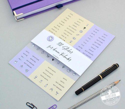 Kalender sticker mit Terminen und wichtigen To-Do's