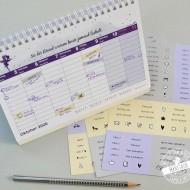 Kalendersticker mit wichtigen Terminen und Begriffen