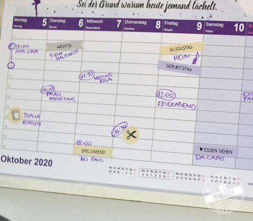Sticker Kalender Planer für Schreibfaule